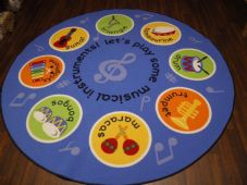 NEW 200CMX200CM MUSIC RUGS/MATS HOME/SCHOOL EDUCATIONAL NON SILP BEST SELLER